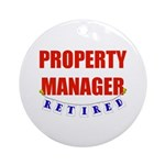 Retired Property Manager Ornament (Round)