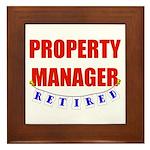 Retired Property Manager Framed Tile