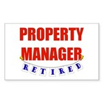 Retired Property Manager Rectangle Sticker 10 pk)