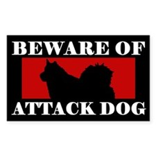 Beware of Attack Dog Alaskan Malamute Decal