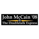 Doubletalk Express bumper sticker