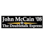 Doubletalk Express bumper sticker