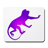 Tie Die Purple Monkey Mousepad