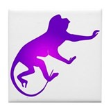 Tie Die Purple Monkey Tile Coaster