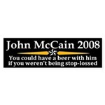 John McCain Stop Loss Bumper Sticker