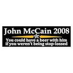 John McCain Stop Loss Bumper Sticker