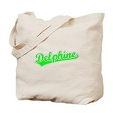 Retro Delphine (Green) Tote Bag