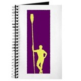 READY TO ROW PURPLE YELLOW PAINTED Journal