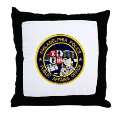 Philly PD P.A.O. Throw Pillow