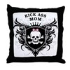 Kick Ass Mom Throw Pillow