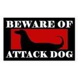 Beware of Attack Dog Afghan Hound Decal