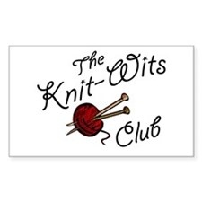 Knit Wit Club Rectangle Sticker