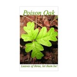 Poison Oak Rectangle Decal