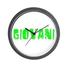 Giovani Faded (Green) Wall Clock
