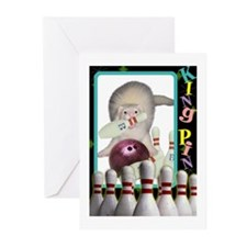 Bowling Ferret Greeting Cards (Pk of 10)