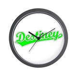 Retro Destiney (Green) Wall Clock