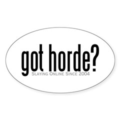 got horde Oval Sticker