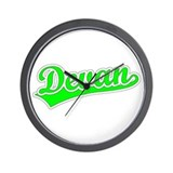 Retro Devan (Green) Wall Clock
