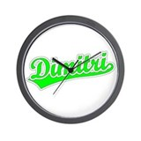 Retro Dimitri (Green) Wall Clock