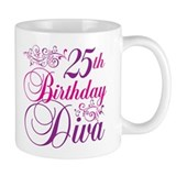 25th Birthday Diva Mug