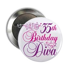"35th Birthday Diva 2.25"" Button (10 pack)"
