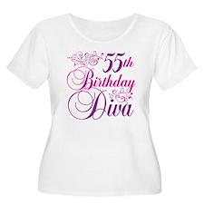 55th Birthday Diva T-Shirt