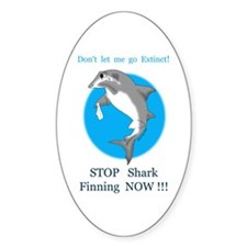 Stop Finning Oval Sticker (10 pk)