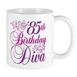 85th Birthday Diva Small Mug