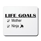 Mother Life Goals Mousepad