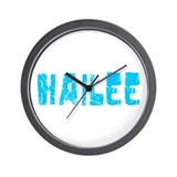 Hailee Faded (Blue) Wall Clock