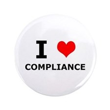 "I (heart) Compliance 3.5"" Button (100 pack)"