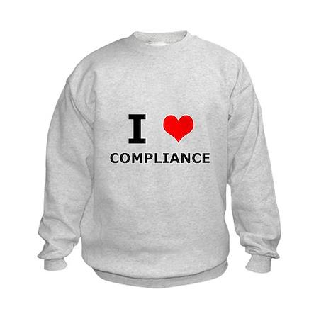 I (heart) Compliance Kids Sweatshirt
