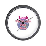 Leah - World's Best Mom Wall Clock