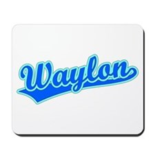 Retro Waylon (Blue) Mousepad