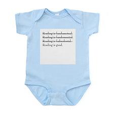 """Reading is fundamental"" Infant Creeper"