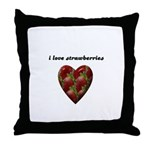 I LOVE STRAWBERRIES Throw Pillow
