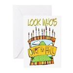 Look Who's Over The Hill Greeting Cards (Package o