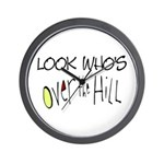 Look Who's Over The Hill Wall Clock