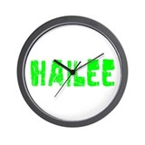 Hailee Faded (Green) Wall Clock
