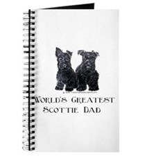 Scottish Terriers Best Dad Pu Journal