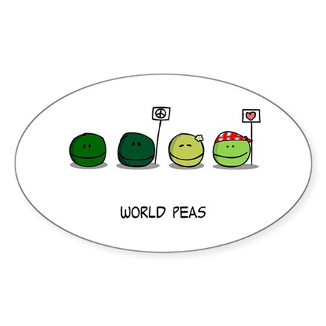 World Peas Sticker
