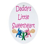 Daddy's Little Sweetheart Keepsake (Oval)
