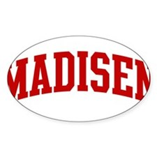 MADISEN (red) Oval Decal
