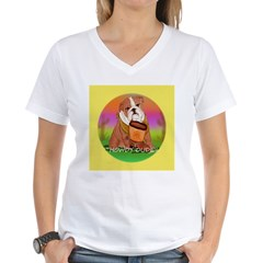 Howdy Dude English Bully Women's V-Neck T-Shirt