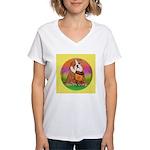 Howdy Dude English Bully Women's V-Neck T-Shirt