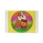 Howdy Dude English Bully Rectangle Magnet (10 pack