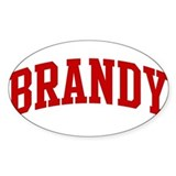 BRANDY (red) Oval Decal