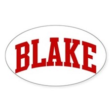 BLAKE (red) Oval Decal