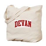 DEVAN (red) Tote Bag