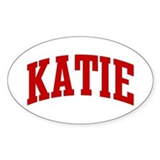 KATIE (red) Oval Decal